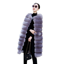 Warm Long Faux fur Coat For Women Winter Vest Fur Soft Thick Fashion Slim faux jacket