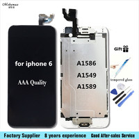 Full LCD Display For IPhone 6 LCD Display Touch Screen Front Glass Digitizer Glass Assembly Camera