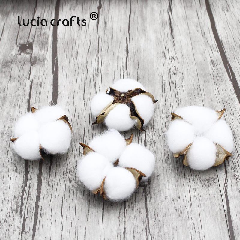 10pcs/lot Artificial Kapok Cotton Head Natural Dried Flower DIY Wedding Christmas Decoration Wreath Bouquet Gift Box Craft H0606