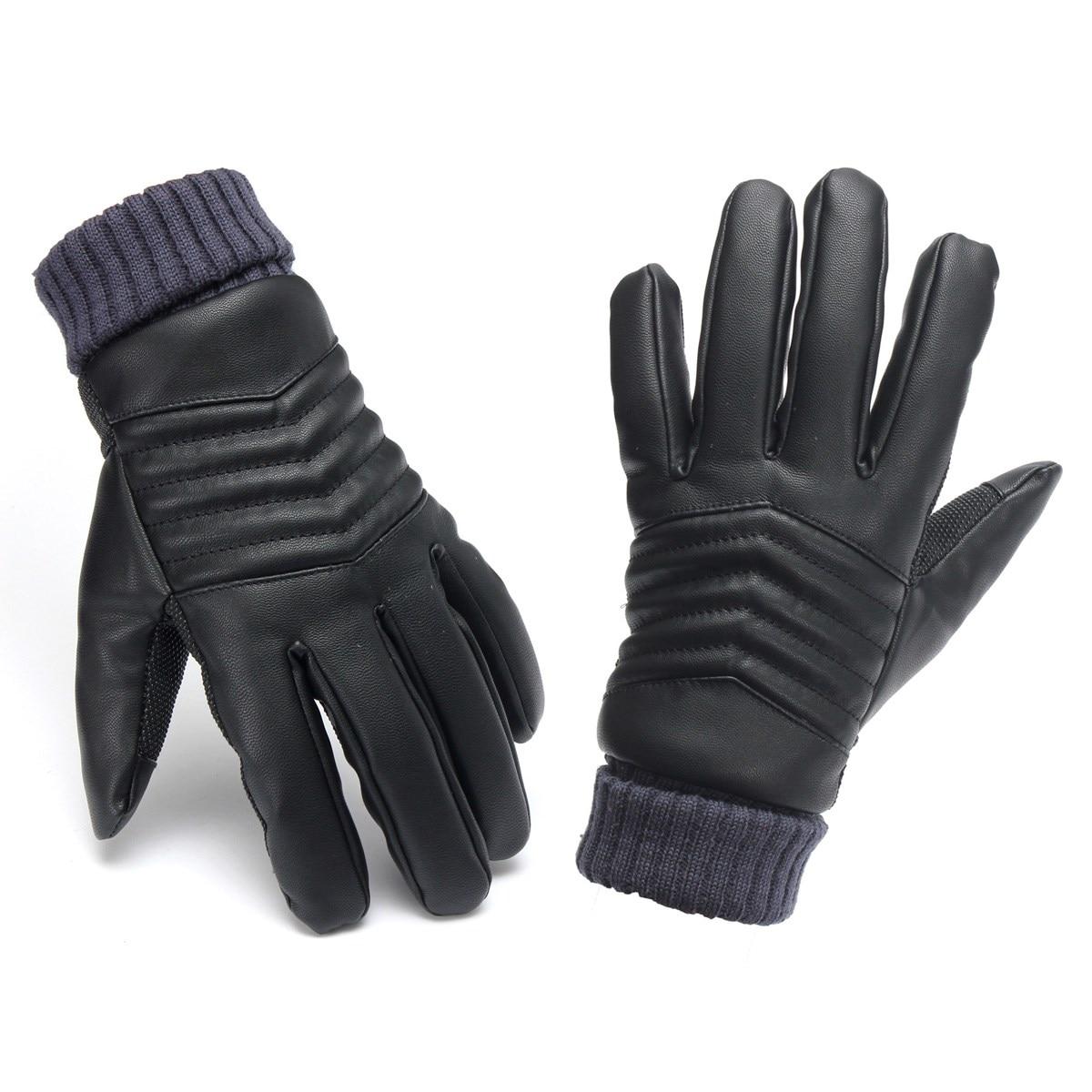 Mens leather kid gloves - Ski Gloves Mens