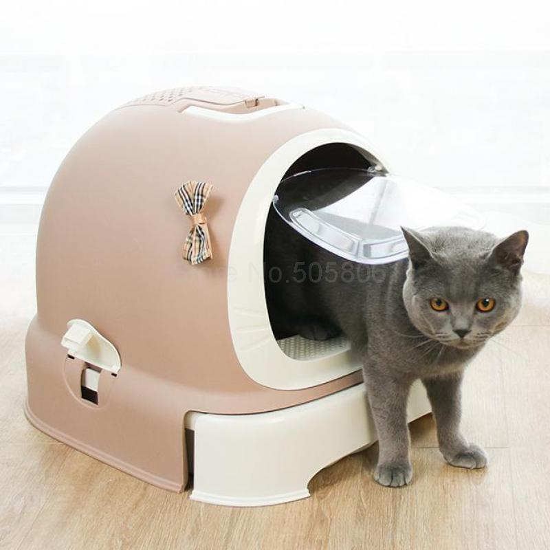 Litter-Basin Cat Toilet Fully-Enclosed Po And Deodorizing-Articles Machine Oversize Anti-Splashing