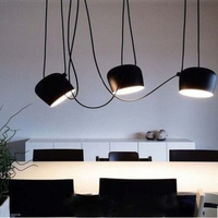 DIY Vintage Retro Black Pendant Lights Iron Lamp Shades Loft Designer For Dining Room Industrial