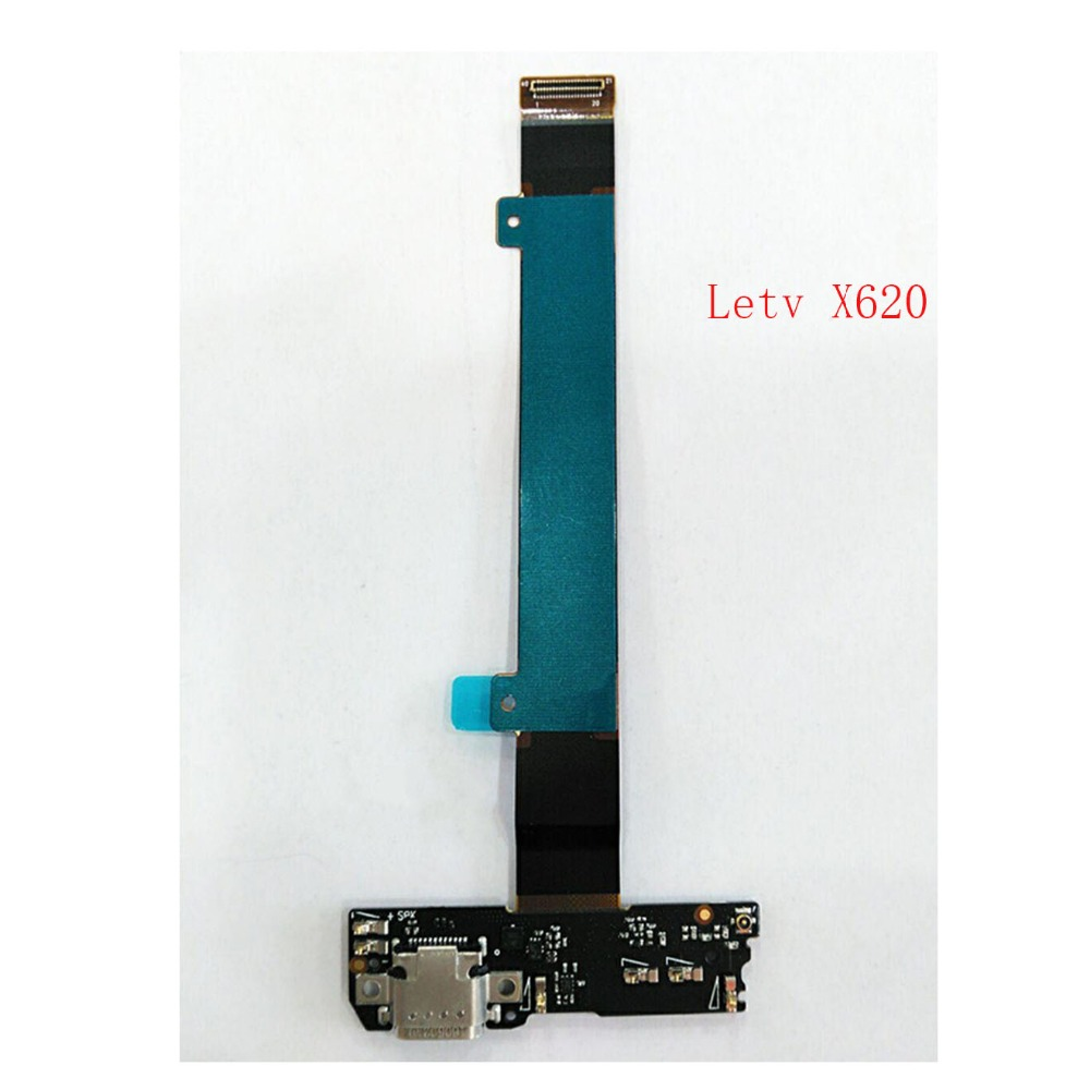 1pcs 100% Original For LeTV LeEco Le 2 X620 USB Charger Charging Port Dock Connector Flex Cable with Microphone Module Board dock connector to usb cable