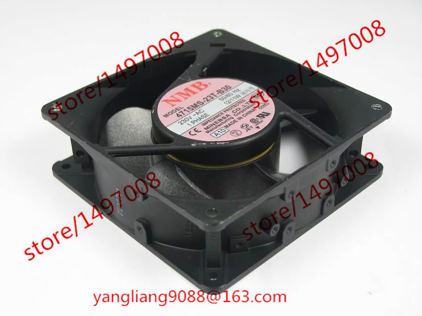 NMB-MAT 4715MS-23T-B30, A10 AC 230V 12/11W 2-Piece 120x120x38mm Server Square Fan free shipping for nmb 4715ms 23t b30 a00 ac 230v 12 11w 2 pin 120x120x38mm server square cooling fan