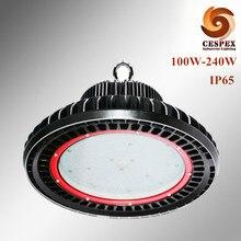 Newest design die cast aluminum AC 100v 110v 220v 230v 240v 277v 120lm/w high efficacy IP65 100W-240W led high bay light fixture