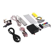 Hot Selling 1 set Complete Tattoo Kit Set Equipment Machine Power Supply gun Color Inks
