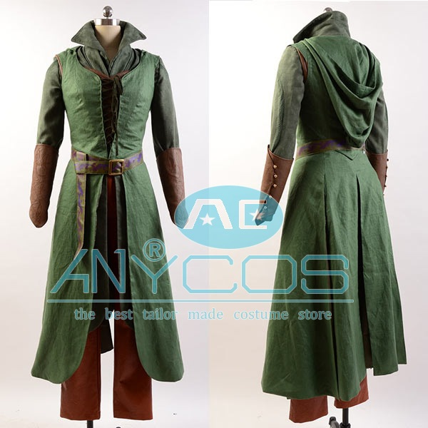 Costume The Hobbit 2 3 Elf Tauriel Pleather Outfit Hoodies Pants Movies Halloween Cosplay Fuil Set
