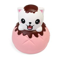 LeiLei Fun Cartoon Puff Kitten Cat Squishies Jumbo For Kids Soft Toy Newest Anti Stress Slow