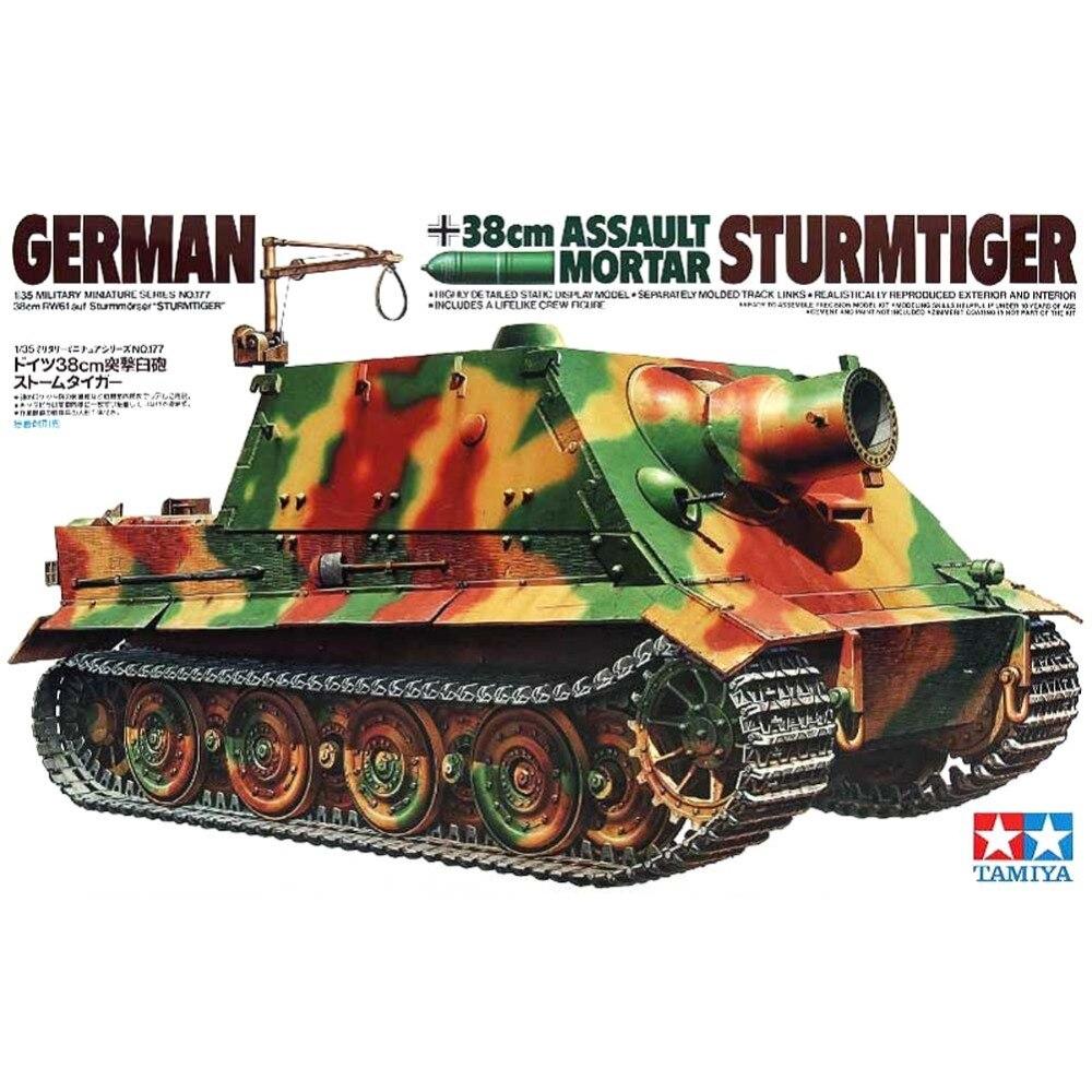 OHS Tamiya 35177 1/35 German 38cm Assault Mortar Sturmtiger Assembly AFV Model Building Kits oh ohs meng ts007 1 35 german main battle tank leopard 1 a3 a4 afv model building kits
