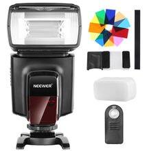 Neewer TT560 Flash Speedlite con 12 filtros de Color e IR Kit de Control remoto inalámbrico para otras cámaras DSLR, difusor duro