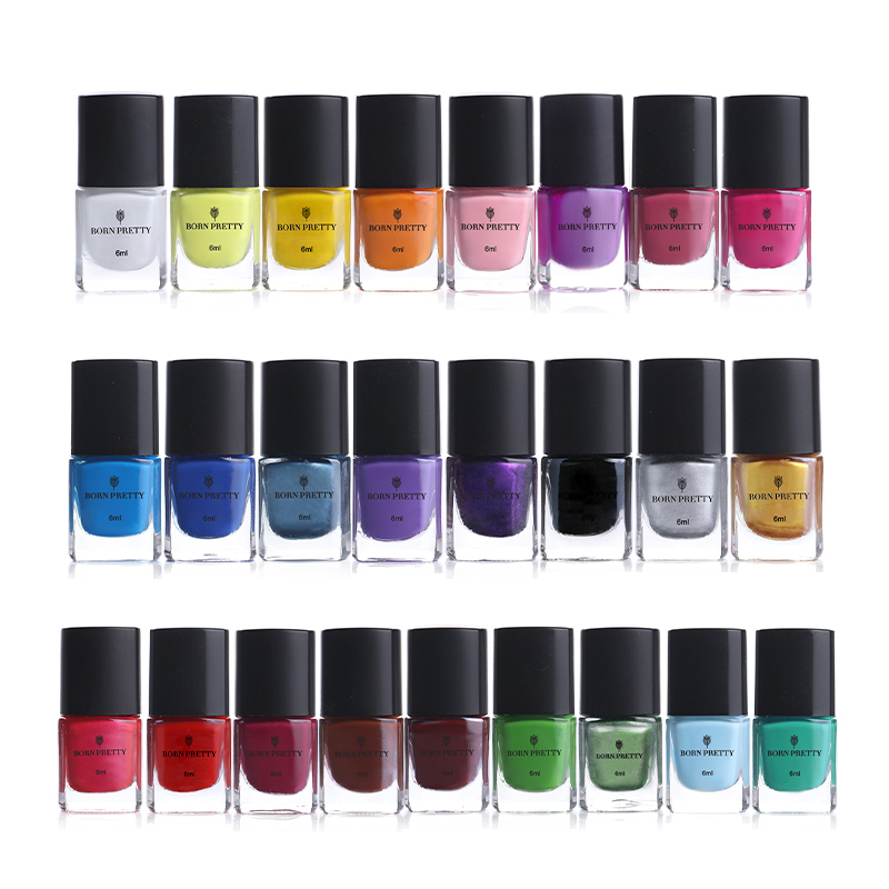 BORN PRETTY 6ml Stamping Polish Peel-off Nail Art Latex 25 Colors Varnish Nail Plate Printing Polish Stamping DIY Nail Art Tools