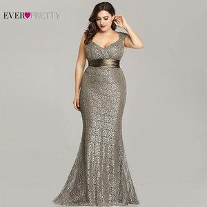 Image 1 - Plus Size Avondjurken 2020 Ooit Pretty EP08798CF Elegant Mermaid Lace Mouwloze Partij Jassen Vintage Sexy Robe De Soiree