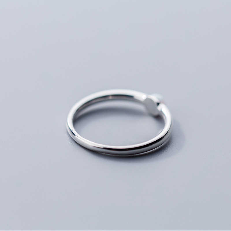Anillo de ópalo redondo de Color de Plata de Ley 925 genuino INZATT para mujeres fiesta joyería fina minimalista clásica dedo índice gran oferta