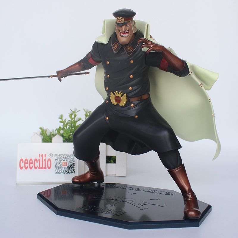 Anime One Piece Blackbeard Pirates Shiliew PVC Action Figure Collection Model Toys 23CM anime one piece ainilu handsome action pvc action figure classic collection model tot doll