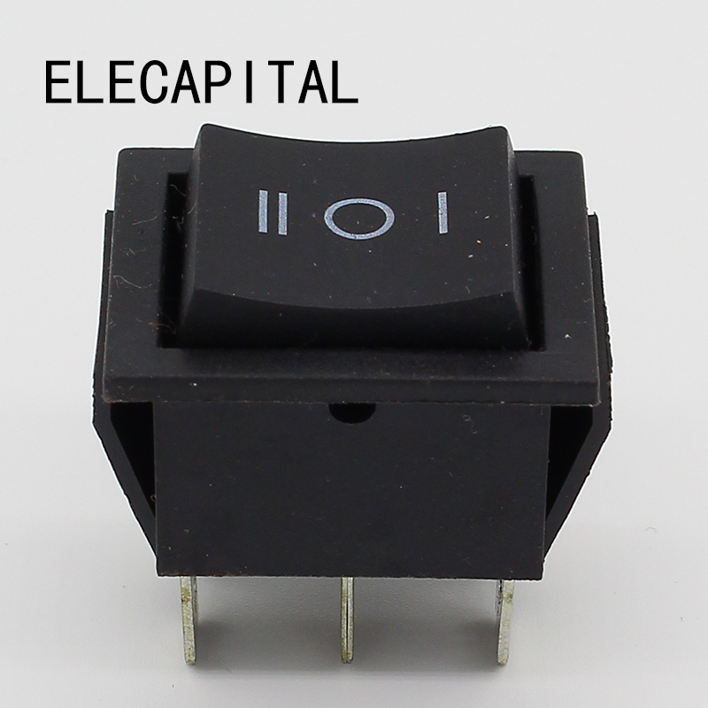 momentary rocker switch 6 flat pins double sides spring return to middle after released