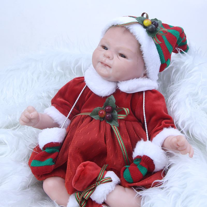 Здесь продается  Latest 17 Inch Realistic Silicone Reborn Babies Dolls Soft Cloth Body Lifelike Newborn Girl Children Christmas Gift  Игрушки и Хобби