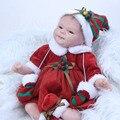 Latest 17 Inch Realistic Silicone Reborn Babies Dolls Soft Cloth Body Lifelike Newborn Girl Children Christmas Gift