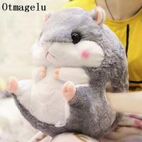 Comfortable Cartoon Hamster Decorative Cushion Warm Hand Rest With Soft Blanket Cute Throw Pillow Cushion Washable Waist Cushion