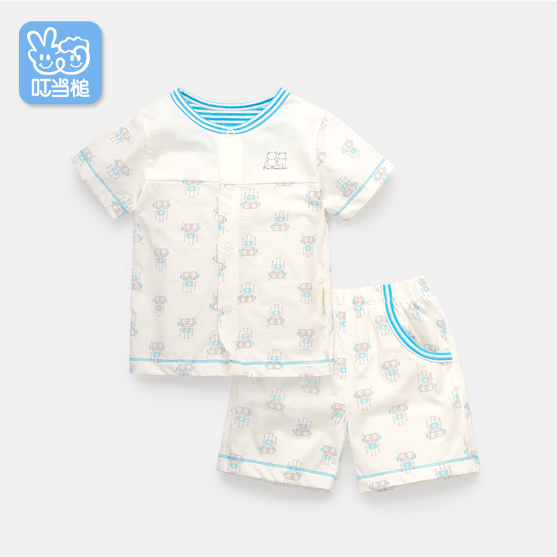 Dinstry Baby short-sleeved underwear suit summer clothes baby children T-shirt+shorts 2pieces sets