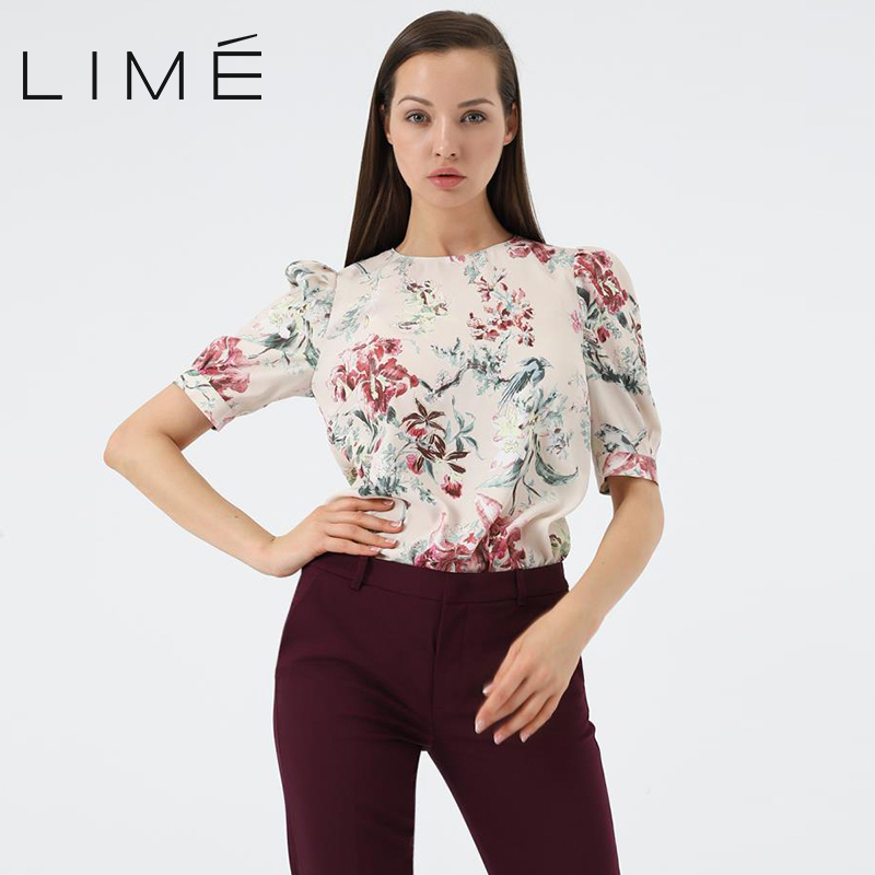 Floral print blouse LIME woman 254|0551|220