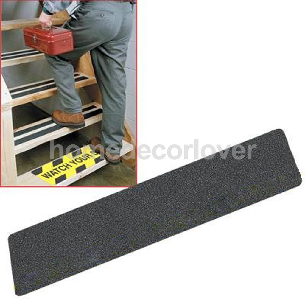 5PCS STAIR TREAD ANTI SLIP TAPE HIGH GRIP ADHESIVE BACKED STICKER STRIP MAT