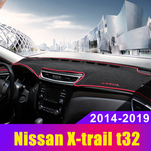 For Nissan X-trail t32 2014 2015 2016 2017 2018 2019 LHD Car Dashboard Cover Mat Pad Instrument Platform Desk Carpet Accessories car floor mats for lhd nissan murano 3rd z52 2018 2017 2016 2015 2014 custom rugs auto interior pad mat accessories car styling
