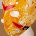 Unisex Men Women Stylish Creepy Cosplay Halloween Party Costume Theater Prop Full Face Masks Yellow