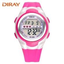 Original DIRAY Marca Reloj Asociación Niños relojes impermeables chicas chicos y chicas estudiantes LED reloj de los deportes al aire libre