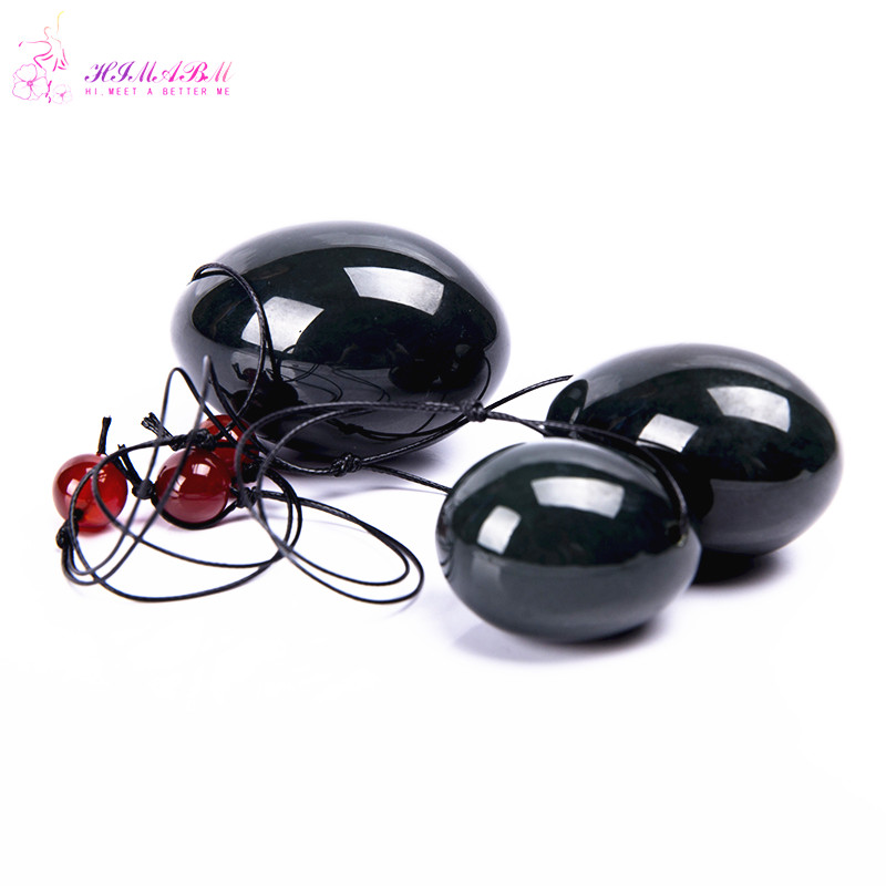 FREE SHIPPING jade egg for Kegel Exercise 3pcs in one sets Pelvic Muscle Vaginal Tightening Ben Wa yoni egg for woman