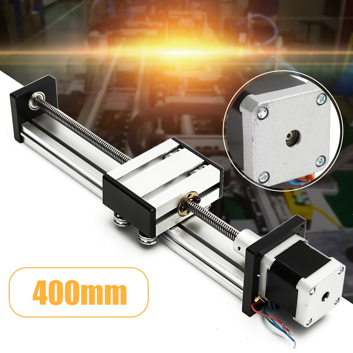 CNC Linear Motion Lead Screw Slide Stage 400mm Stroke Actuator 42 Stepper Motor For Engraving Machine new 500mm slide stroke cnc linear motion lead ball screw slide stage stroke 42 motor actuator stepper for engraving machine