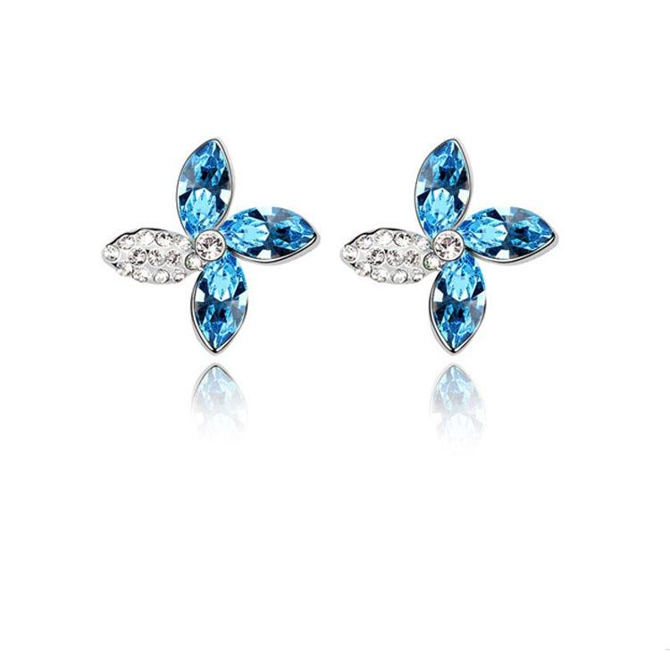 Crystal Flower Earring 3