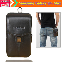 New Arrive Genuine Leather Clamp Pouch Waist Purse Case Cover For Samsung Galaxy On Max 5