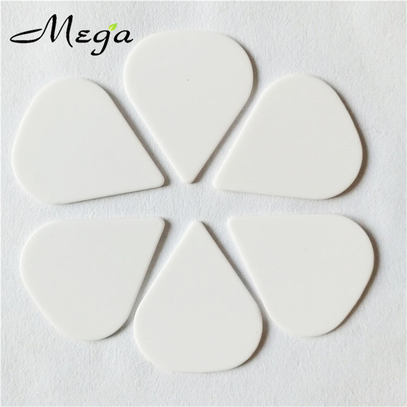 Blank White Guitar Picks Lot of 10 1.0 mm Thick Acoustic Electric Free Track New