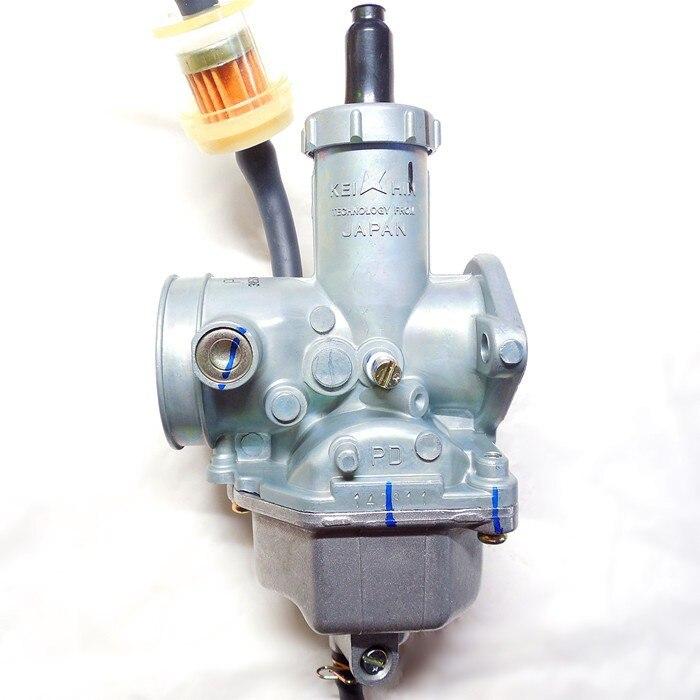 Keihin accélérateur manuellement PZ30 moto carburateur 30mm Carb 200 ~ 250CC ATV Karting monocylindre buggy (livraison gratuite)