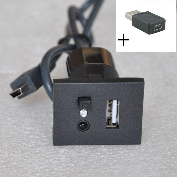 Разъем для подключения USB Flash/AUX, мини USB кабель, аудио вход, адаптер для ford focus 2 mk2 2009 2010 2011