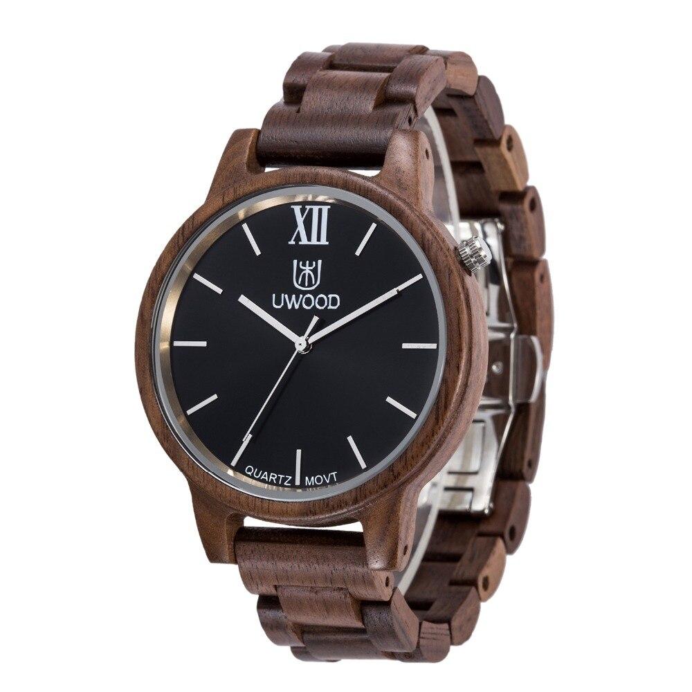 2018 Top marque hommes montres de luxe en bois montre Quartz avec bande de bois montres en bois naturel pour les hommes comme article de cadeaux uniques
