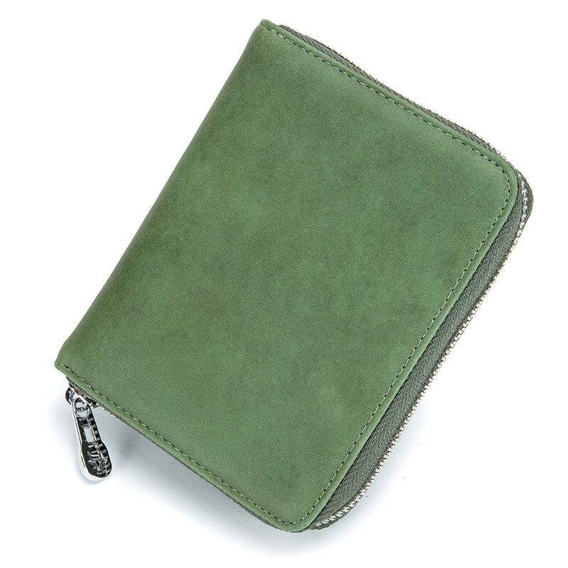 Vintage Style Women Wallet Fashion Design Split Leather Credit Card Wallet Women RFID Blocked Saft Short