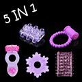 Silicone Spiny Trichomes Stretchy Delay Penis Rings Cockring for Man Great Sexy Toy for Couple Adult Sex Product Men Delay Lock