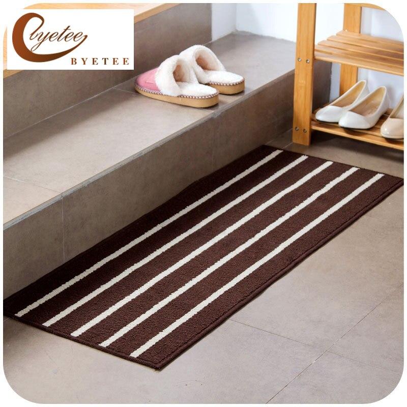 byetee] Long Slip Floor Mat Door Mat Rugs Mats For Kitchen Bathroom ...