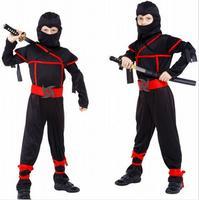 M XL Free Shipping Fantasia Disfraces Boys Kids Naruto Ninja Cosplay Costumes Halloween Costumes For Children