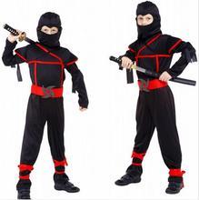 M-XL Бесплатная доставка фантазия Disfraces для мальчиков Наруто ниндзя маскарадные костюмы на Хэллоуин для детей игры униформы