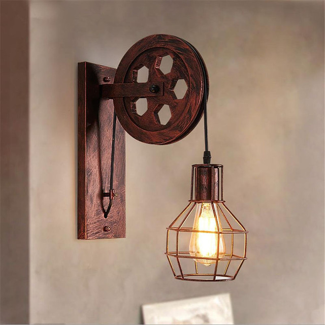 Pulley Caged Sconce