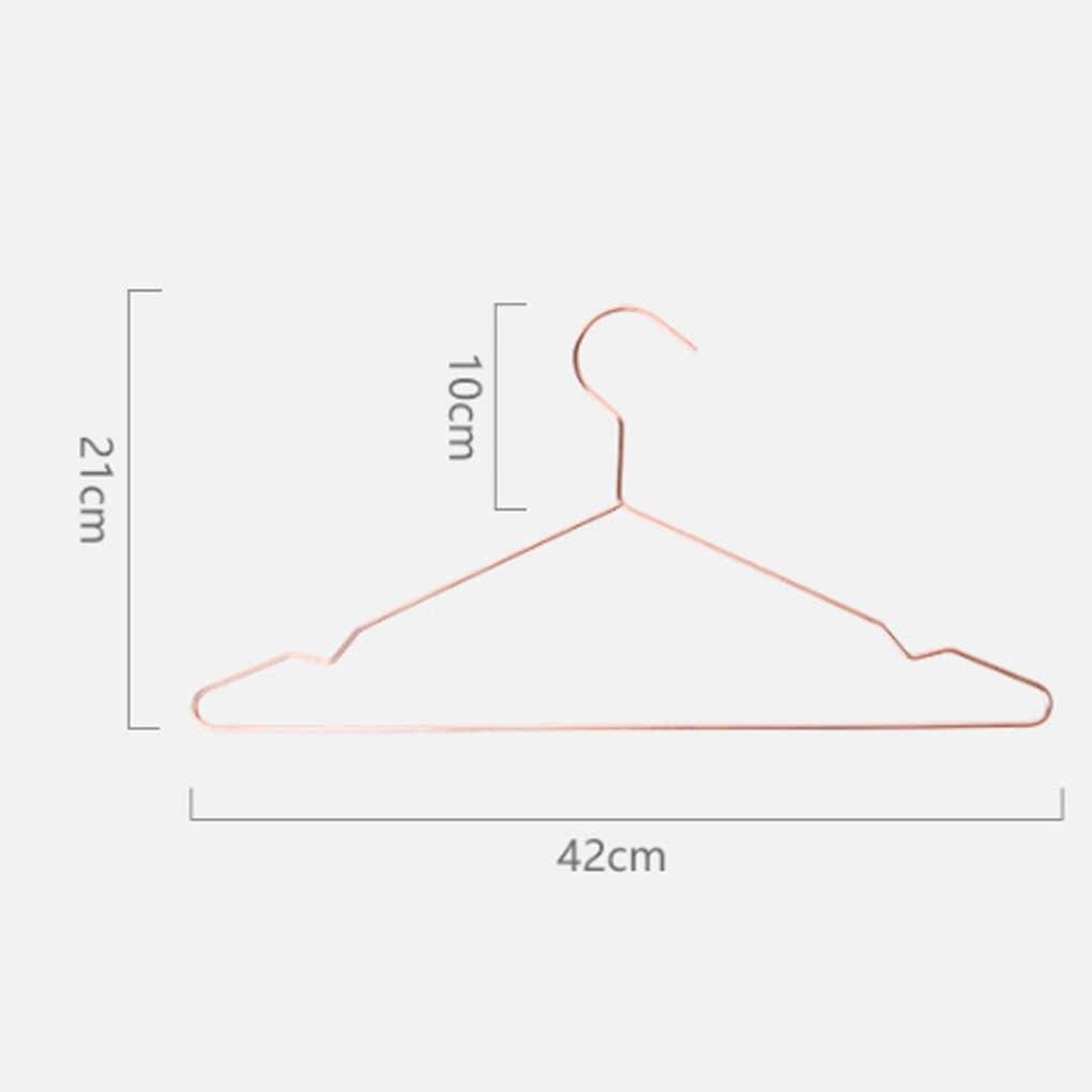 鉄線ノンスリップ防錆コートハンガーローズゴールド服衣服ズボンドレスラック 42 × 21 センチメートル