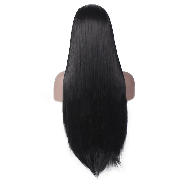 Fashion Indian Human Hair Front Lace Wigs Silky Straight Glueless Full Wig fashion indian human hair front lace wigs silky straight glueless full wig