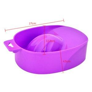 Image 4 - 1 PC Nail Art main lavage dissolvant tremper en plastique bol ongles bain manucure outil de haute qualité