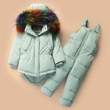 Winter Suits for Baby Girls Boys Ski Suit Children Clothing Set Duck Down Jacket Coat  Overalls Warm Kids Snowsuit