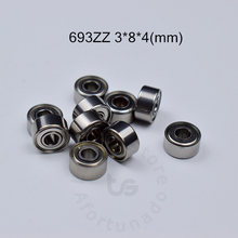 цена на 693ZZ Bearing 3*8*4(mm)/0.9*2.4*1.2(inch)  ABEC-5 10pcs Metal Sealed Miniature Mini Bearing 693 693Z 693ZZ chrome steel ABEC-5