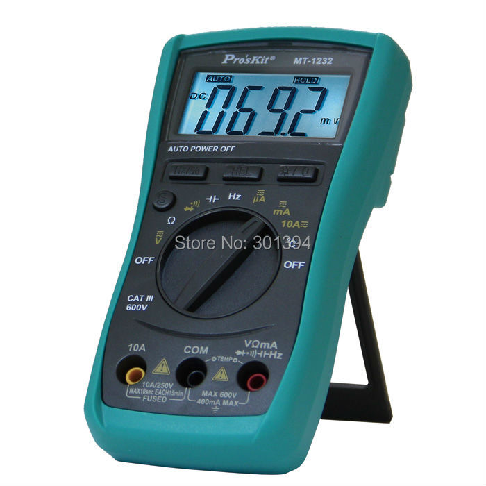 ФОТО  Professional MT-1232 Multimeter 3 3/4 Autorange Digital Multimeter Resistance,Capacitance Frequency Meter
