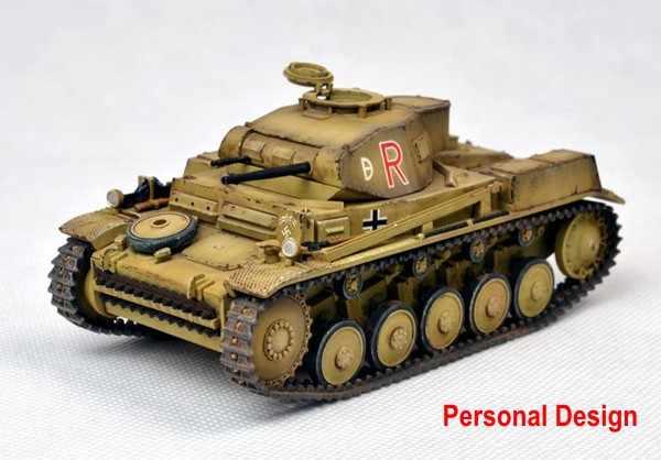 1:35 modelo de tanque alemán Panzer Kampfwagen II Ausf F/G modelo de tanque de montaje tanque DIY 35009