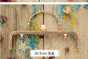 Image 4 - 20.5 Cm Metalen Frame Voor Portemonnees Meisje Zak Mond Gouden Sluiting Accessoires 3 Stks/partij